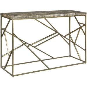 Bengal Manor Crazy Cut Iron Console Table