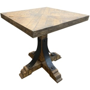 Bengal Manor Iron Trestle Base End Table