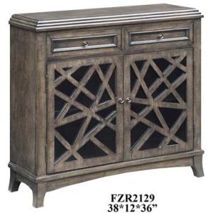 Kingsbury Crazy Cut 2 Door 2 Drawer Cabinet