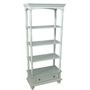 Channing 1 Drawer / 3 Shelf Antique White Etagere