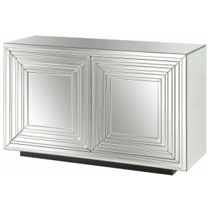 Millenium 2 Door Mirrored Cabinet