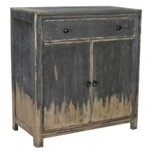 Bengal Manor Acacia Wood Cabinet with Weathered Grey Finish