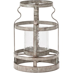 Small Jones Open Metal Vase Shaped Candle Holder