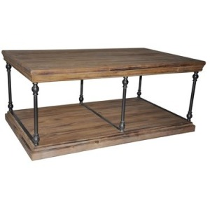 La Salle Metal And Wood Cocktail Table
