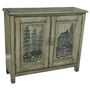 Ponderosa 2 Door Mountain Scene Cabinet
