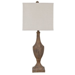 Rustic Finial Table Lamp