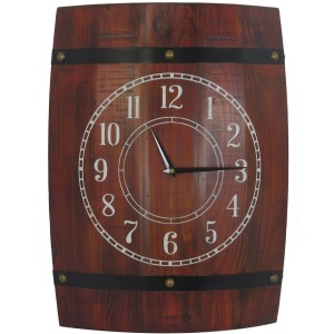 Stock Barrel Wall Clock