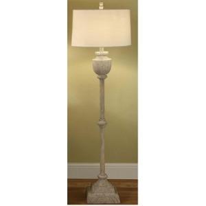 Avalon Carved Wood Floor Lamp