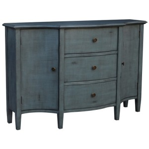 Abigail 2 Door 3 Drawer Brushed Cool Blue Credenza