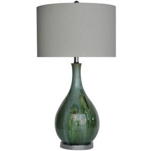 "Sea Scape Table Lamp 30""ht"