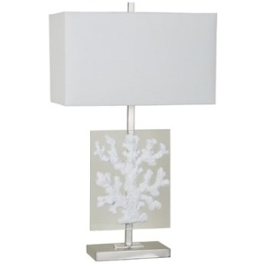 Coral Glass Table Lamp