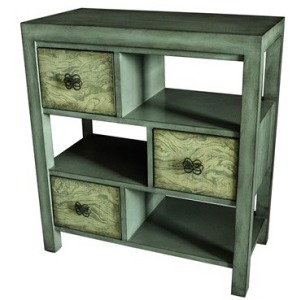 Darby 3 Drawer Coventry Grey Offset Console