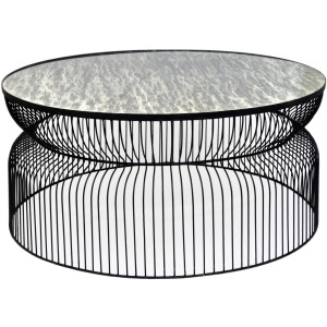 Montreal Round Metal Wire Cocktail Table