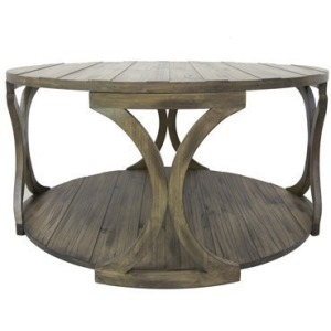 Hawthorne Estate Textured Round Cocktail Table