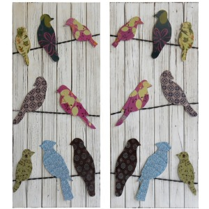 Party Line Wooden Wall Decor - Set of 2