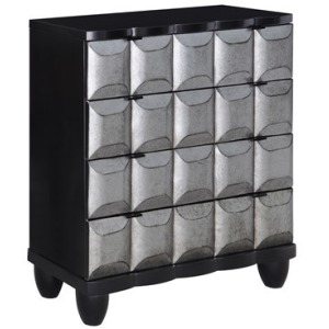 Empire Black And Pewter 4 Drawer Chest