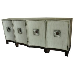 Georgetown 4 Shaped Door Antique Ivory Sideboard