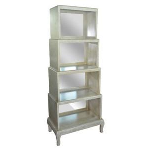 Veranda Sandstone And Mirror 4 Tier Display Case