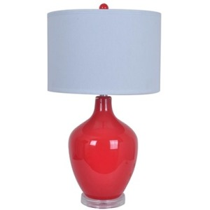 Avery Red Table Lamp