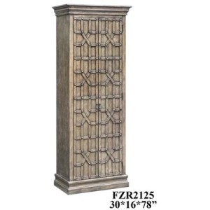 Sedgwick Overlaid Fretwork Tall Cabinet