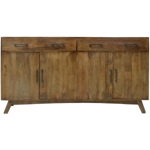 Bengal Manor Mango Wood 2 Drawer 4 Door Sideboard Dovetail Case Heritage Finish