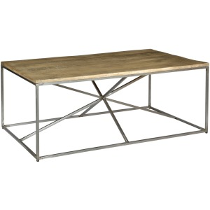 Bengal Manor Rough Mango Wood And Iron Asterisk Rectangle Cocktail Table