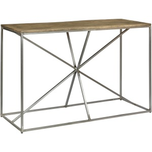 Bengal Manor Rough Mango Wood And Iron Asterisk Rectangle Console Table