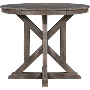 Pembroke Plantation Recycled Pine Distressed Grey Wood Base Accent Table