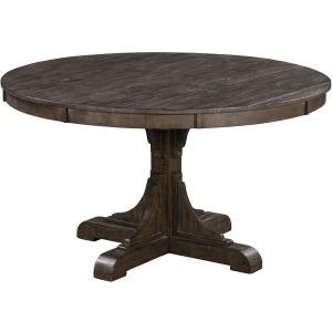 Pembroke Plantation Recycled Pine Tavern Finish Woodwork Base Round Dining Table