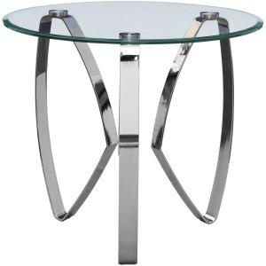 Hollywood Nickel Tri Leg End Table