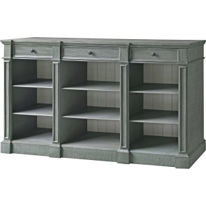 Bedford 3 Drawer Mint Green And White Bookshelf Console