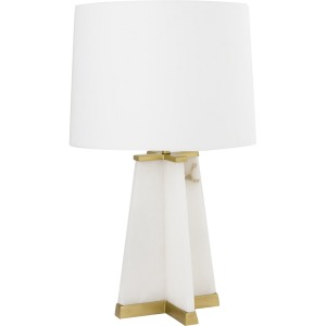 Alabaster With Iron Table Lamp