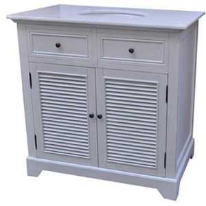 Cottage White 2 Louvered Doors 36\