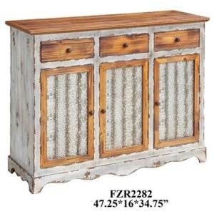 Stafford Metal And Wood 3 Drawer / 3 Door Sideboard