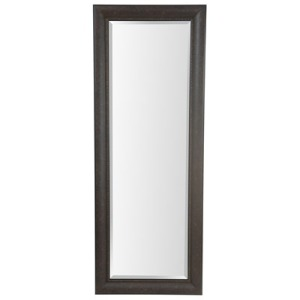 25x65 Dark Bronze With Black Framed Mirror