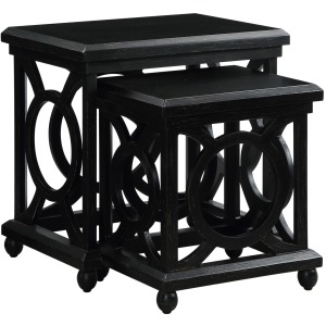 Walden Distressed Black Nested Tables