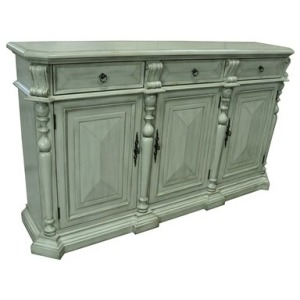 Sterling 3 Drawer / 3 Door British Grey Sideboard