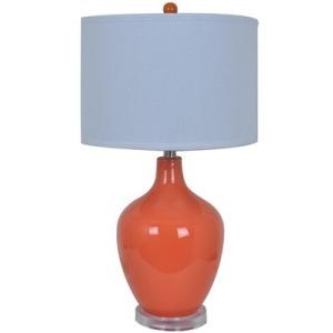 Avery Orange Table Lamp