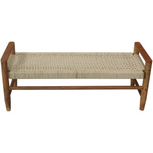 Tacoma Jute Bench - White