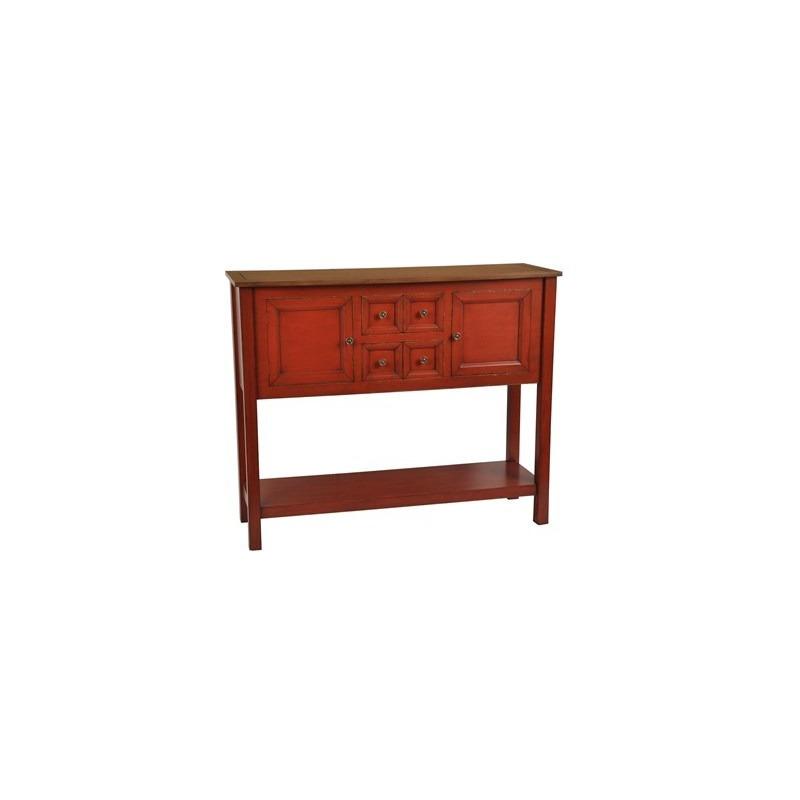 Brayden 2 Drawer / 2 Door Persimmon Cupboard With Wood Top