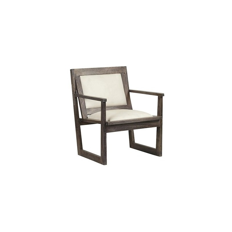 Astounding Bengal Manor Charcoal Grey Mango Wood Accent Chair W White Gamerscity Chair Design For Home Gamerscityorg