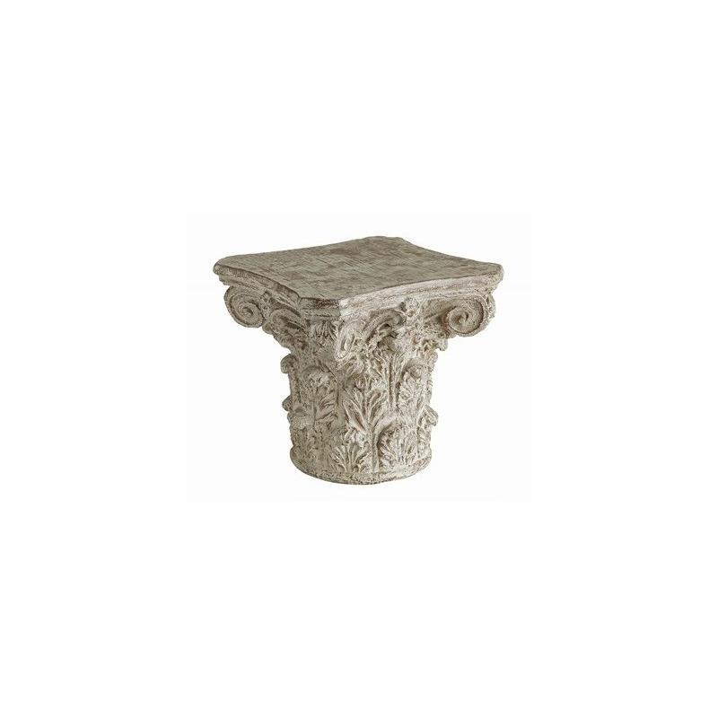 Admirable Athena Cast Greek Capital Accent Table By Crestview Creativecarmelina Interior Chair Design Creativecarmelinacom