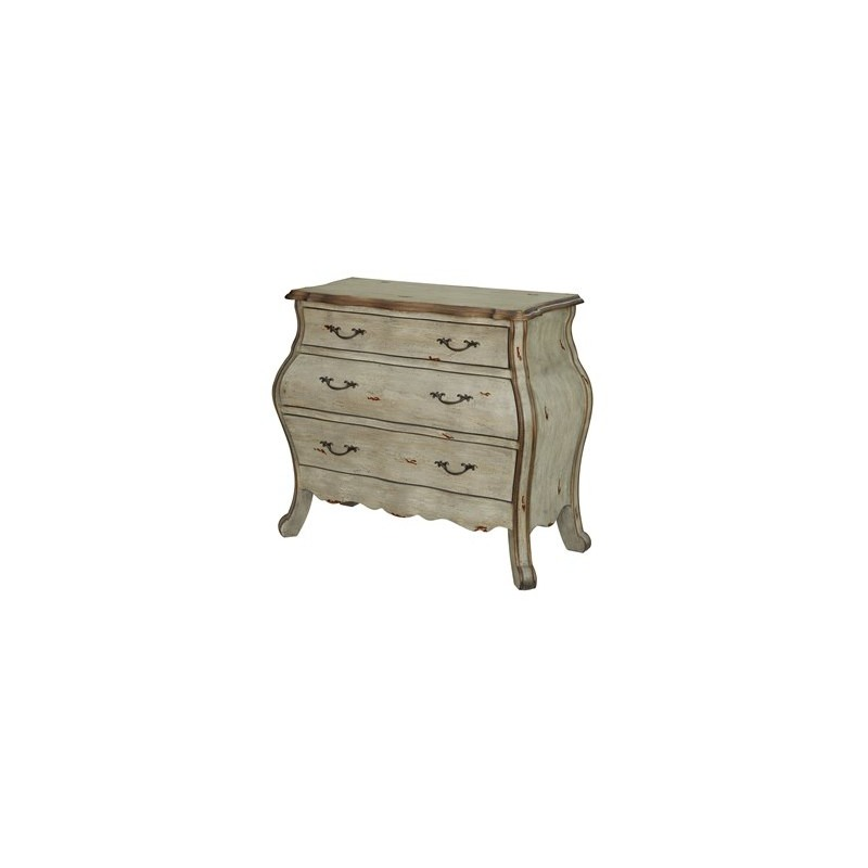 Victoria 3 Drawer Shaped Bombe Chest
