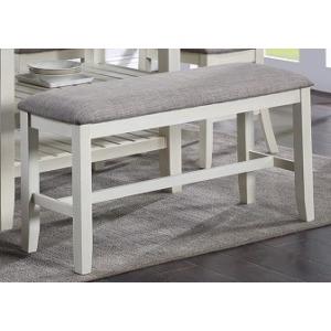 Jorie Counter Height Dining Bench - Chalk Grey