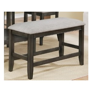 Fulton Counter Height Bench - Grey