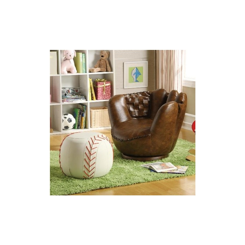 Baseball Glove Chair & Ottoman