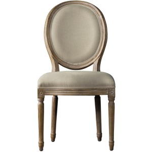 French Vintage Louis Round Side Chair