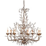 Crystal Bud Chandelier, Large