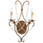 Crystal Lights Wall Sconce, Gold