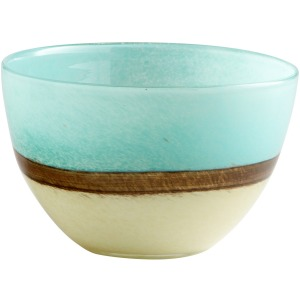 Small Turquoise Earth Vase
